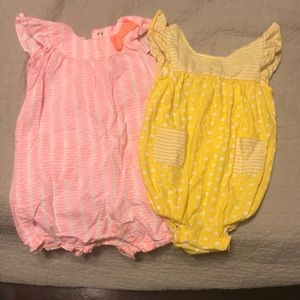 2 size 12-18 month bodysuit outfits